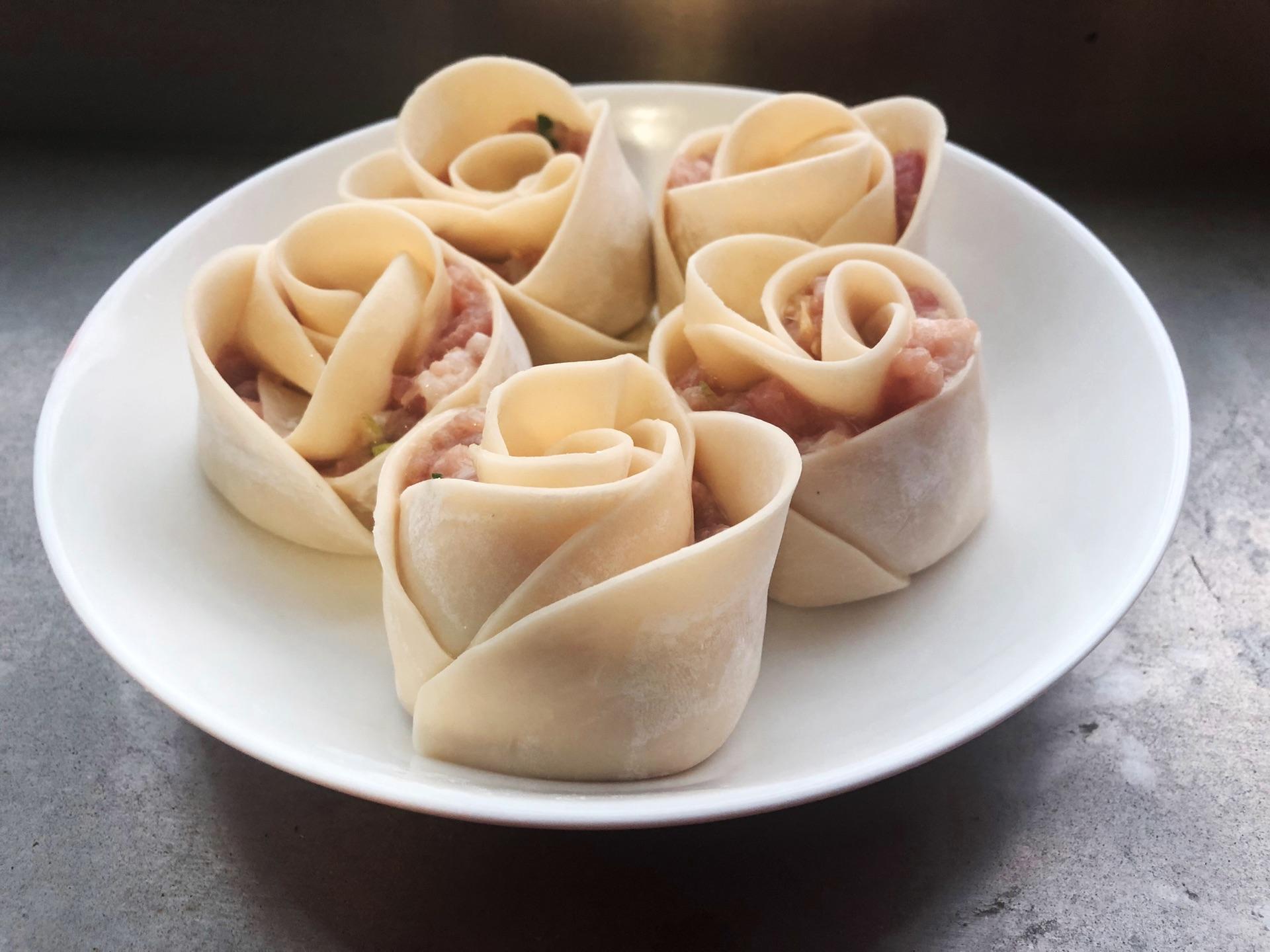 玫瑰花饺的做法步骤