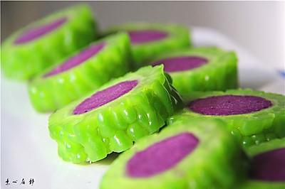 素心居静苦瓜酿紫薯清凉一夏