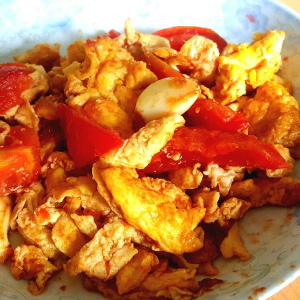 小可爱幸福的西红柿炒鸡蛋做法的学习成果照_豆果美食