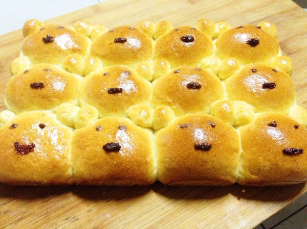 可爱的小熊面包
