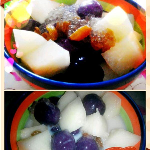 紫薯芋圆水果捞
