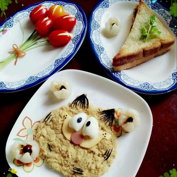 郁金香可爱早餐