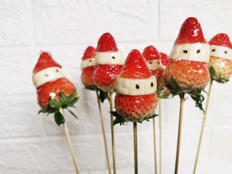 在家自制圣诞老人 冰糖葫芦