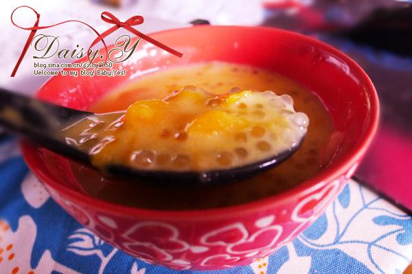 小可爱 椰汁水果西米露