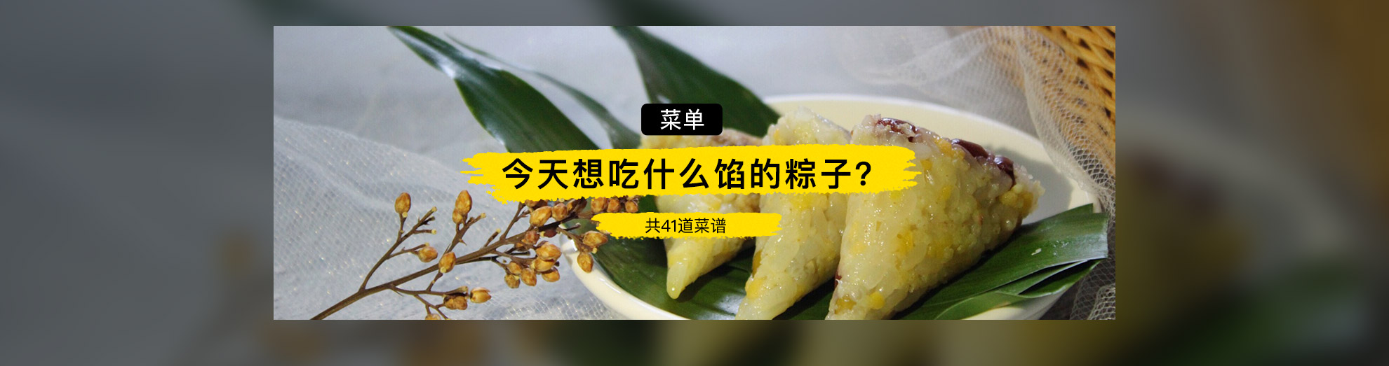 今天想吃什么馅的粽子?}
