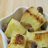 焗烤英式布丁——软软的面包丁
