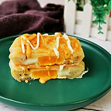 #今天吃什么# 手抓饼的新吃法:香酥火腿蛋饼