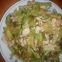 酸菜炒豆角