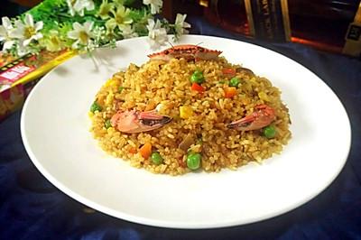 咖喱蟹炒饭