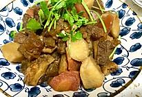 胡萝卜土豆烧牛筋牛肚的做法