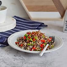 双椒紫菜烩高粱米#中式减脂餐#