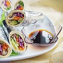 多彩营养蔬菜卷#美的微波炉菜谱#