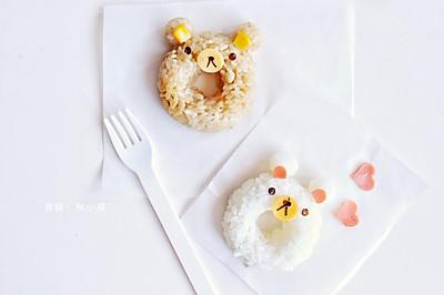 #今天吃什么#创意饭团 | 双色熊饭团