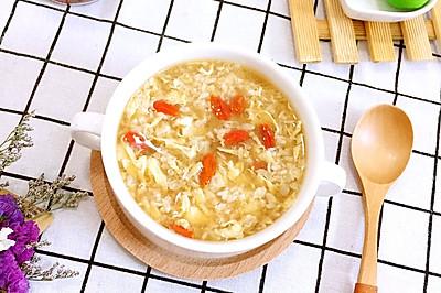红糖酒酿蛋花汤