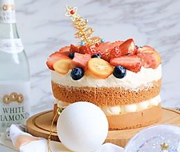 芋泥奶油水果裸蛋糕的做法
