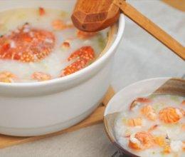 [快厨房]潮汕干贝虾蟹粥砂锅粥的做法