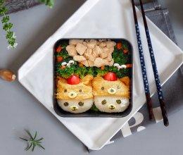 卡通睡帽小熊便当#网红美食我来做#的做法