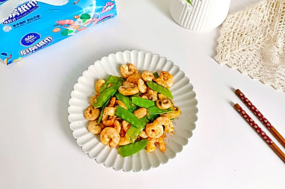 黑胡椒荷兰豆炒虾仁