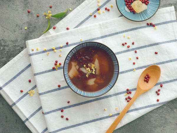 年糕红豆汤的做法
