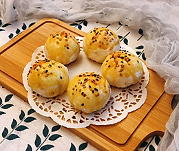 雪媚娘蛋黄酥(低糖少油版)的做法