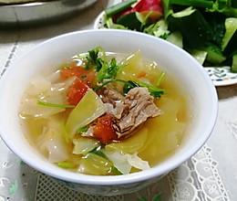 #合理膳食 营养健康进家庭#牛肉西红柿圆白菜汤的做法