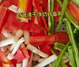 小孩爱吃的时蔬炒肉的做法