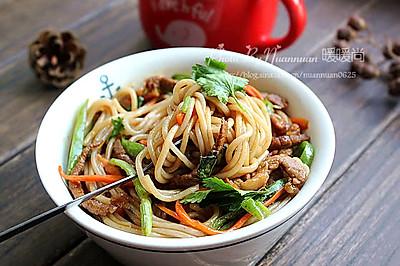 蚝汁牛肉炒米线