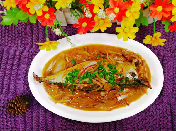(台式餐厅做法)红烧青占鱼的做法