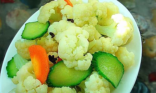 凉拌菜花的做法