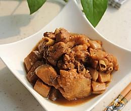 杏鲍菇烧鸡翅的做法