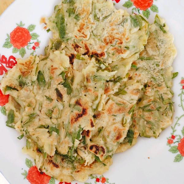 鲜嫩奇香花椒叶煎饼的做法