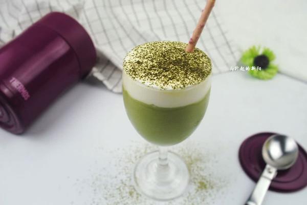 奶盖抹茶冰#膳魔师夏日魔法甜品#的做法