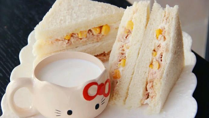 低脂美味营养早餐 金枪鱼三明治
