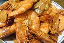 油焖虾炒白菜的做法
