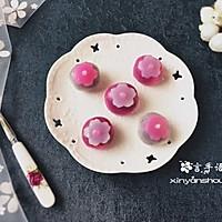 双色樱花水晶果子#樱花味道#