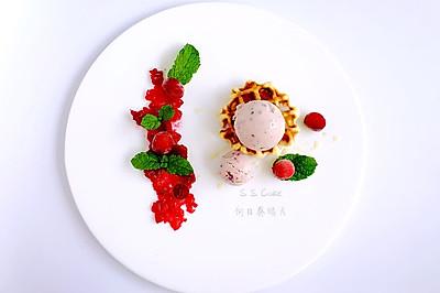 蔓越莓覆盆子冰激凌