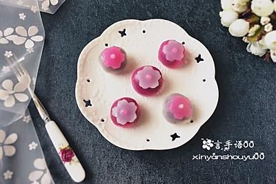 双色樱花水晶果子