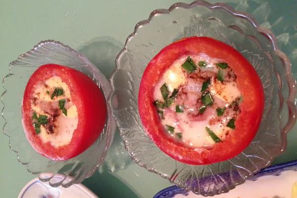 芝士培根烤蕃茄的做法