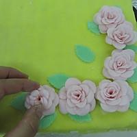 换个方式做翻糖花---翻糖蛋糕(七)---桃花盛开的做法图解52