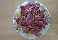 腊羊肉炖土豆盖浇饭的做法