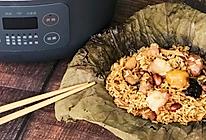 广式荷叶鸡饭的做法