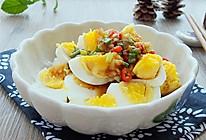 绝味蒜泥鸡蛋#金龙鱼外婆乡小榨菜籽油 最强家乡菜#的做法