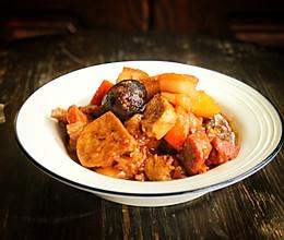 #肉食者联盟#五花肉炖菜的做法