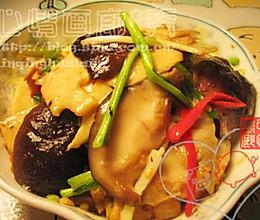 香菇炝春笋的做法