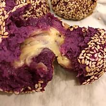做好5分钟瞬间被吃光的芝麻奶酪紫薯球