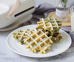抹茶云彩华夫饼 #今天吃什么#的做法