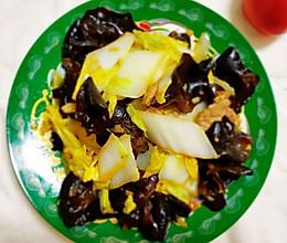 木耳炒白菜的做法