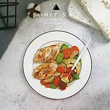 #做道懒人菜,轻松享假期#杂蔬杏鲍菇鸡胸肉