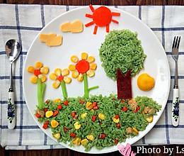 【创意宝宝餐】春暖花开宝宝餐盘的做法
