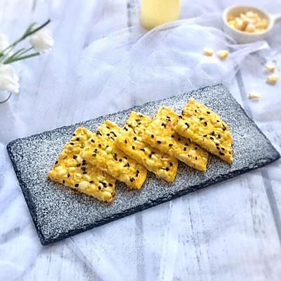 快手营养早餐:芝士甜玉米鸡蛋饼